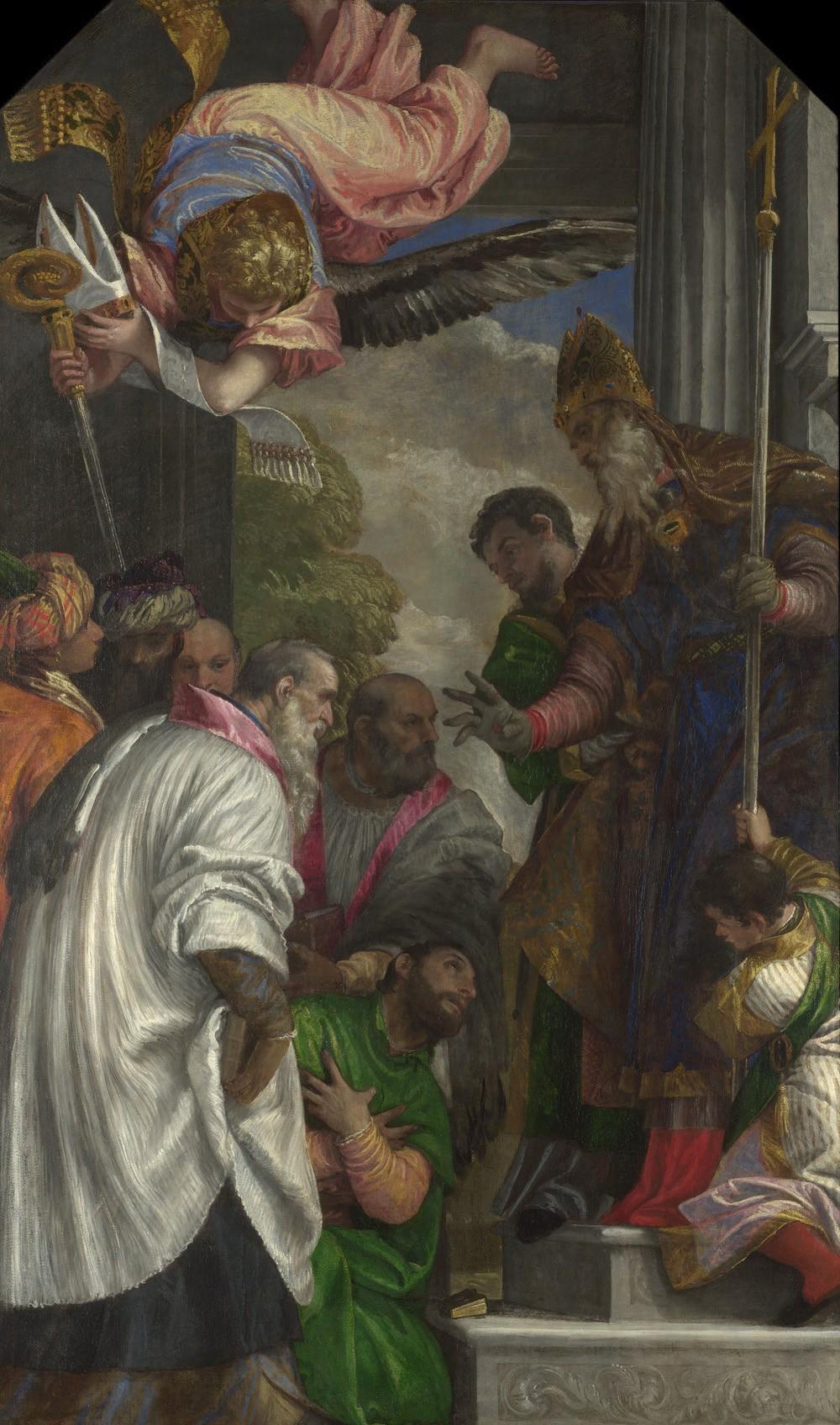 Foto 1 - A Consagração de São Nicolau Pintura dePaolo Veronese em TELA