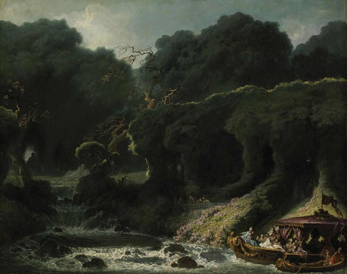 Foto 1 - A Ilha do Amor Jovens em Barco Lugar de MistérioEmoção e Prazer1770Pintura de Jean-Honoré Fragonard em TELA