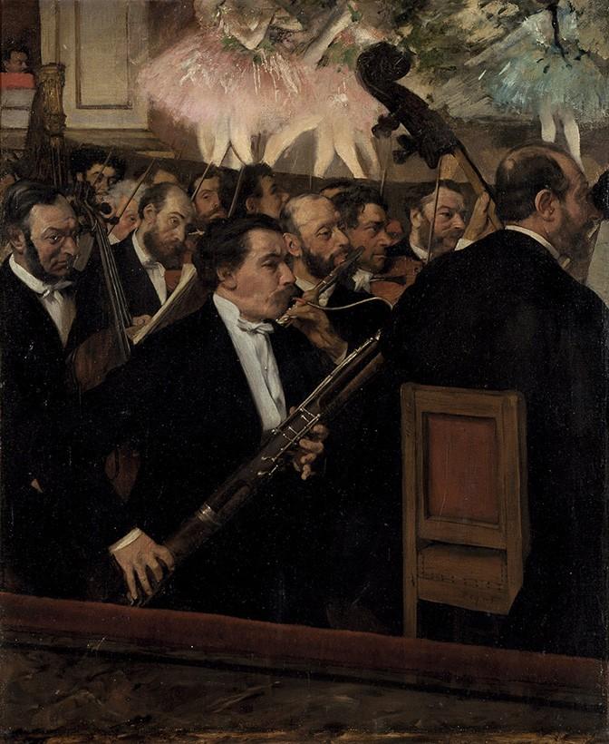 Foto 1 - A Orquestra na ÓperaMúsica TeatroBalé Ballet Bailarinas DançaPintura de Edgar Degas em TELA