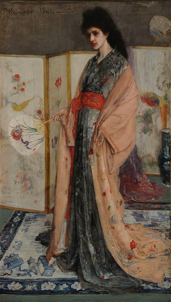 Foto 1 - A Princesa da Terra da Porcelana Kimono Japonês Pintura de Whistler em TELA