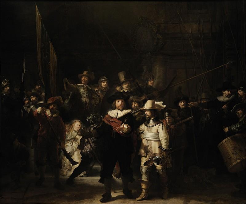 Foto 1 - A Ronda Noturna GuardaCívica AmsterdãPintura de Rembrandt em TELA