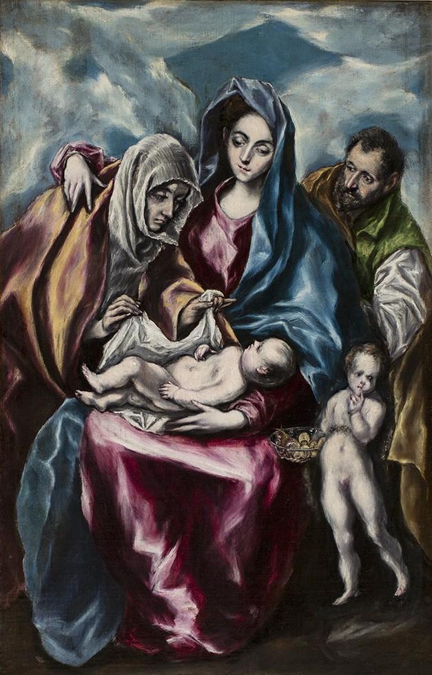 Foto 1 - A Sagrada Família com Santa Ana e o Infante João BatistaPintura de El Greco em TELA