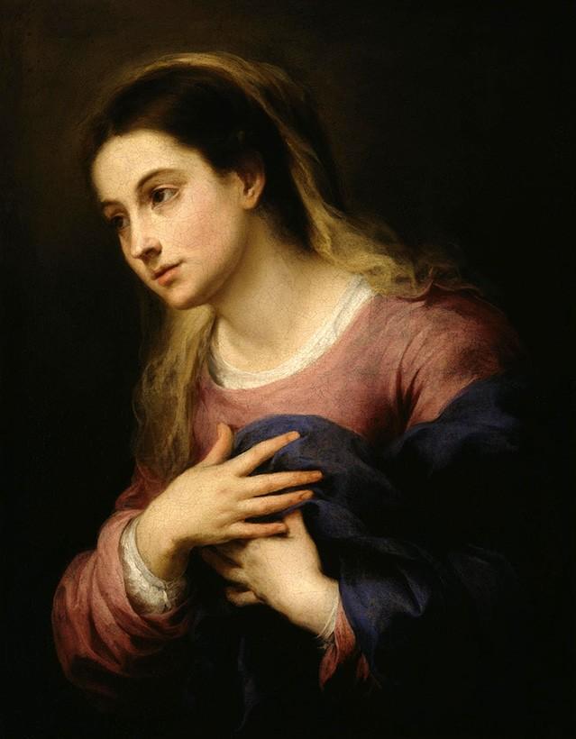 Foto 1 - A Virgem da Anunciação Pintura de Murillo em TELA