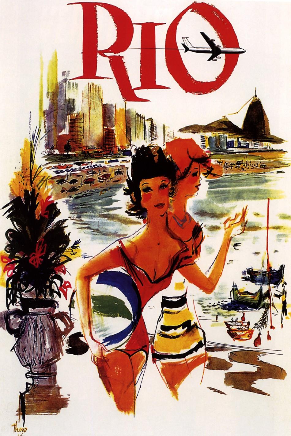Foto 1 - America do Sul Rio de Janeiro Brasil Ferias Viagem Praia Vintage Cartaz Poster em Papel Matte
