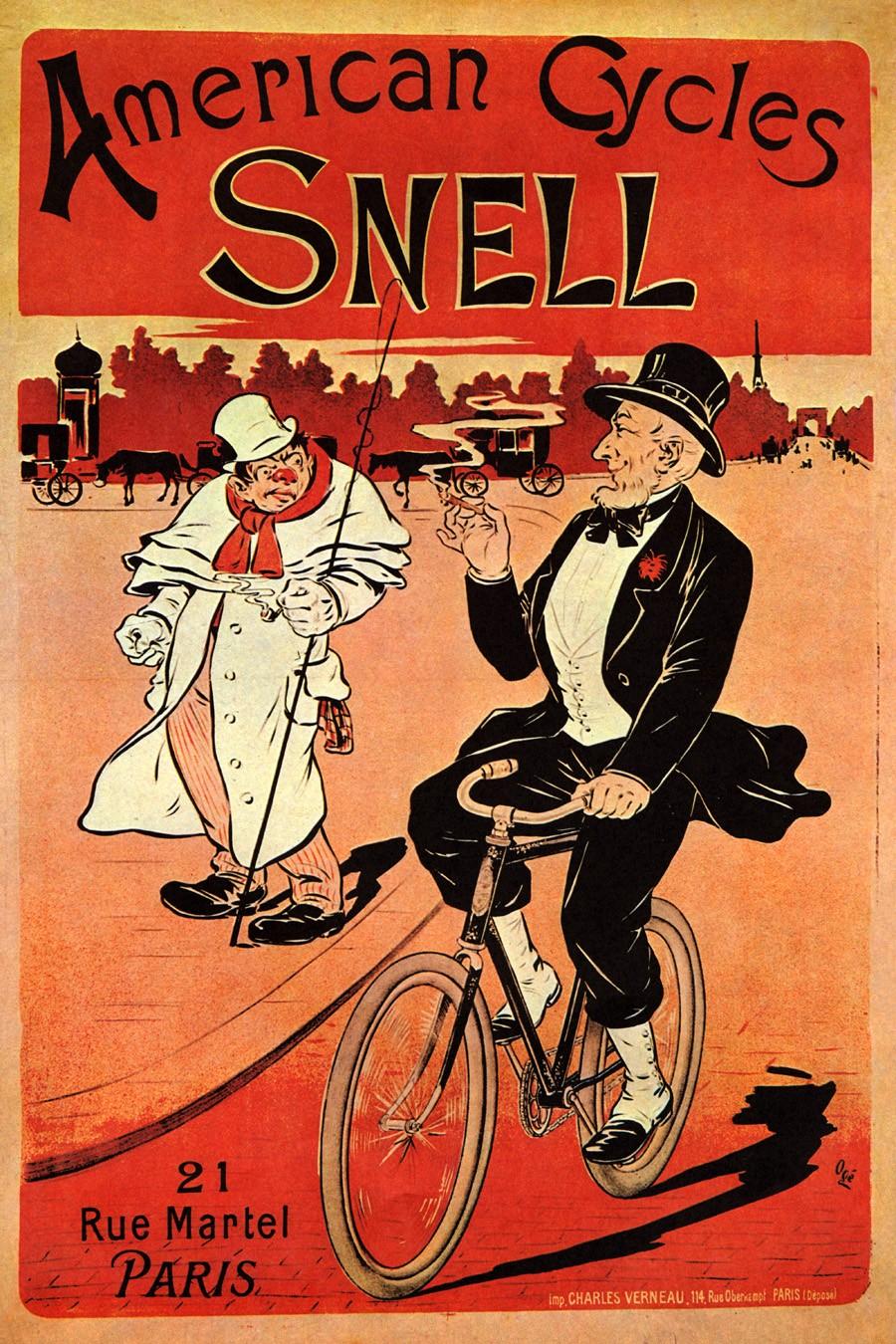 Foto 1 - American Cycles SnellBicicletaVintage Cartaz Poster em Papel Matte