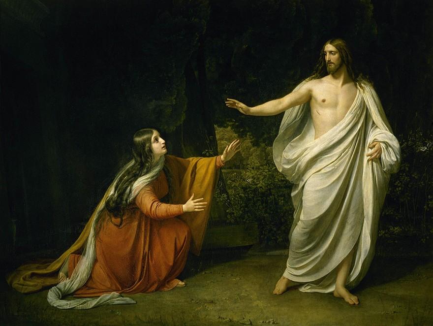Foto 1 - Aparição de Cristo a Maria Madalena após a Ressurreição Pintura de Alexander Andreyevich Ivanov em TELA