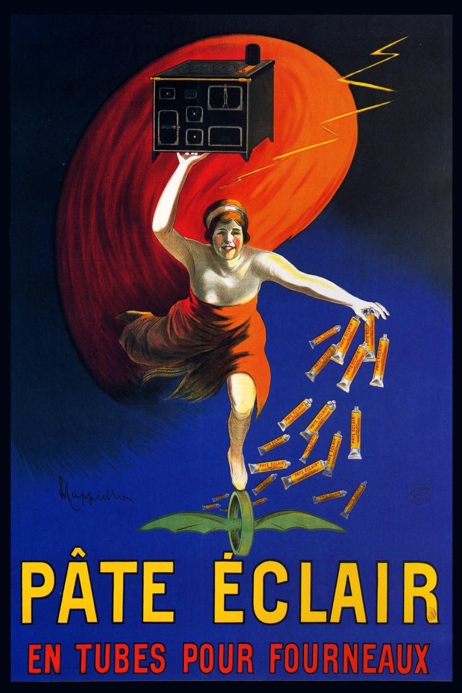 Foto 1 - Aquecedor Pate Eclair de Cappiello Vintage Cartaz Poster em Papel Matte