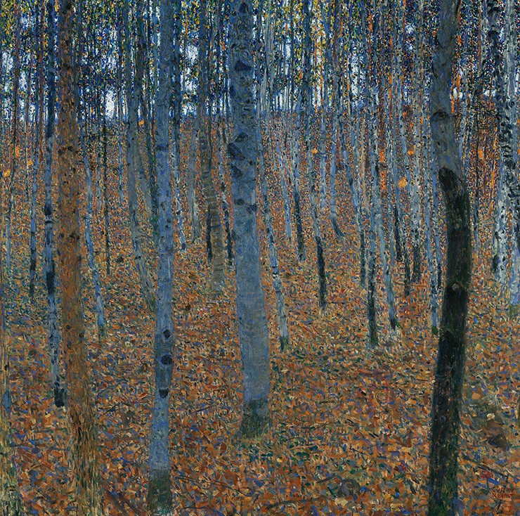 Foto 1 - Arvoredo ArvoresPintura de Gustav Klimt em TELA