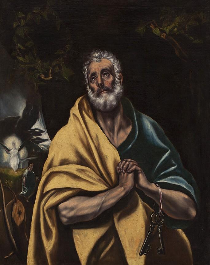Foto 1 - As Lágrimas de São Pedro Pintura de El Greco em TELA