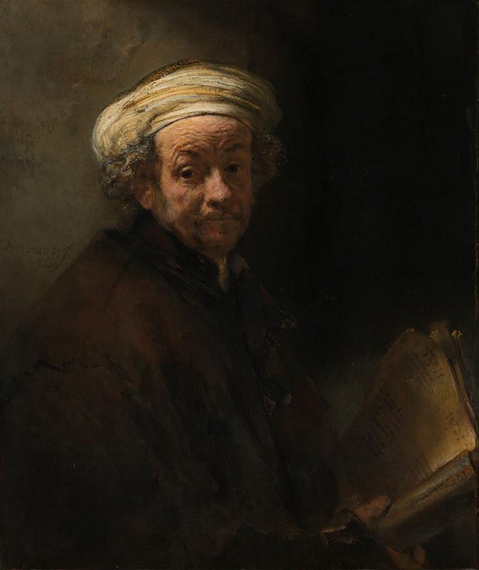 Foto 1 - Auto Retrato como o Apóstolo PauloPintura de Rembrandt em TELA