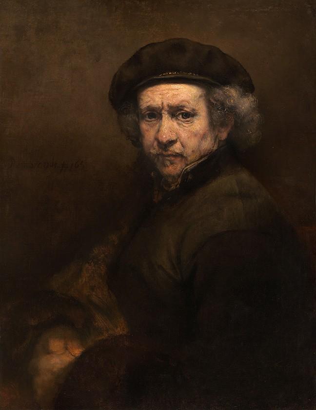 Foto 1 - Auto Retrato do ArtistaPintura de Rembrandt em TELA