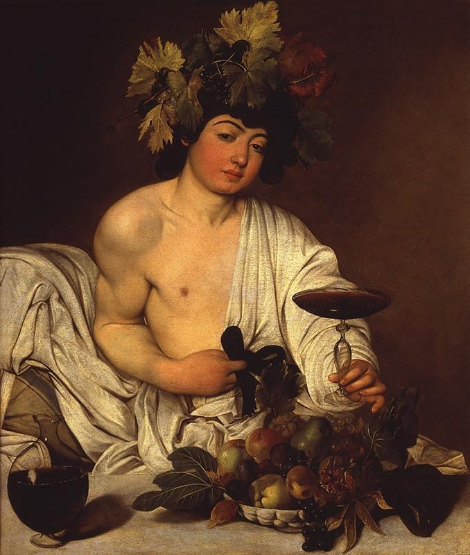 Foto 1 - Bacchus Deus do Vinho Pintura de Caravaggio em TELA