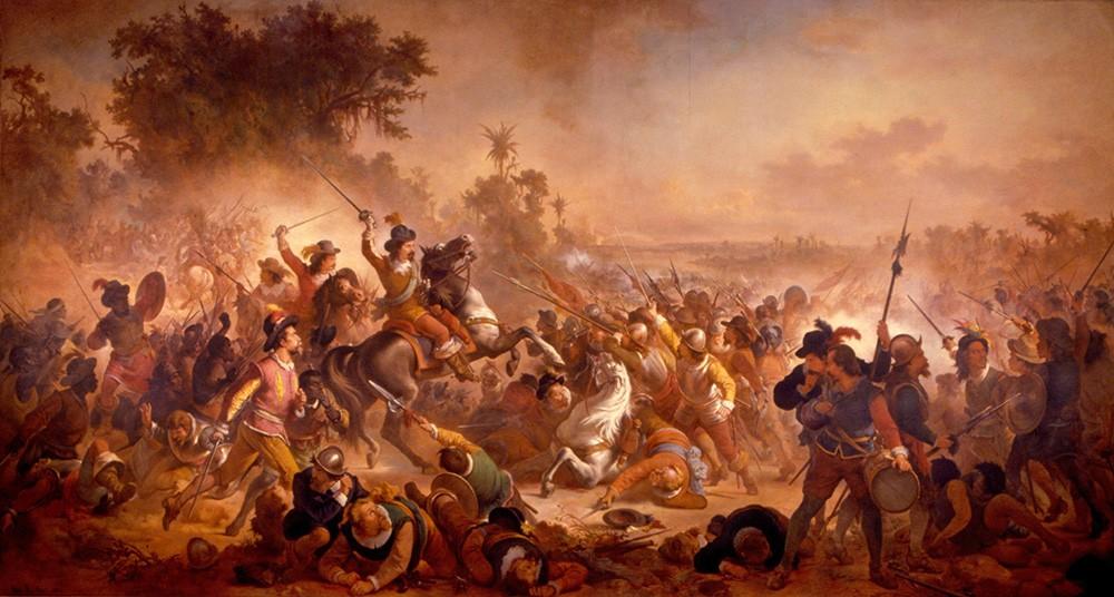 Foto 1 - Batalha de Guararapes Pintura de Victor Meirelles em TELA
