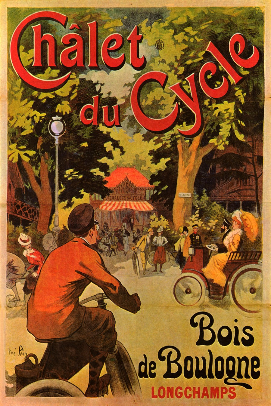 Foto 1 - Chalet Cycle França BicicletaVintage Cartaz Poster em Papel Matte