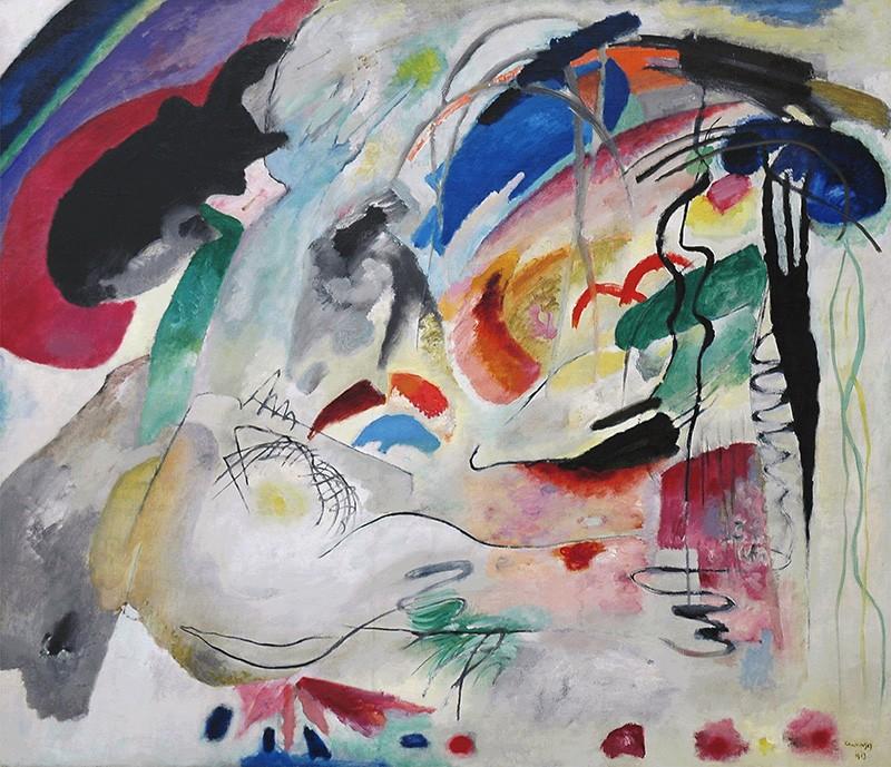 Foto 1 - Color ImprovisationImprovisação Pintura de Wassily Kandinsky em TELA