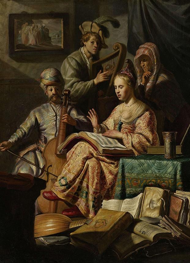 Foto 1 - Companhia MusicalMúsica Canto Harpa Violoncelo Pintura de Rembrandt em TELA