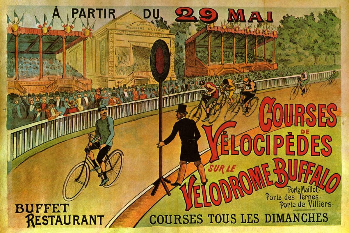 Foto 1 - CompetiçãoCorridaBicicletaVintage Cartaz Poster em Papel Matte