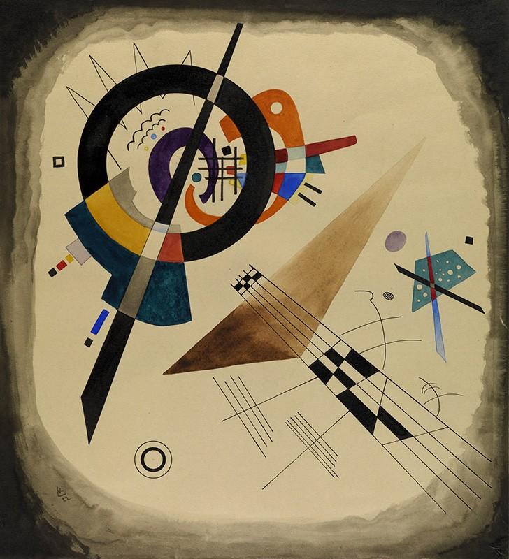 Foto 1 - Composition ComposiçãoGeometrica Pintura de Wassily Kandinskyem TELA