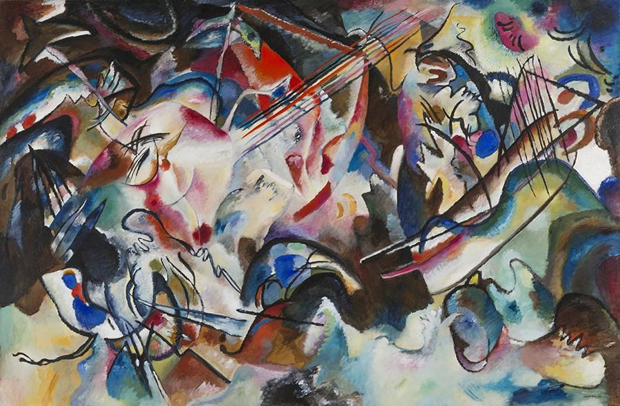 Foto 1 - Composition VIcomposição 6Pintura de Wassily Kandinskyem TELA