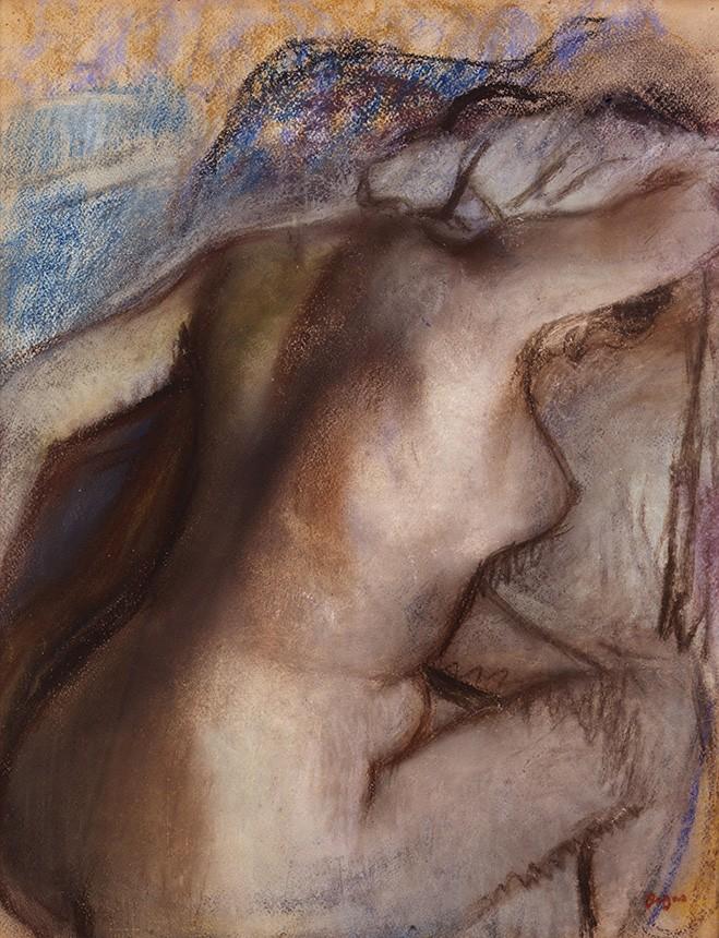 Foto 1 - Depois do BanhoMulher se SecandoPintura de Edgar Degas em TELA