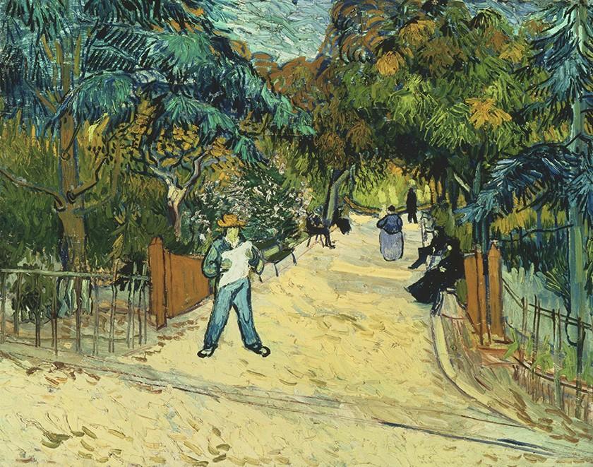 Foto 1 - Entrada para os Jardins Públicos em Arles França Pintura de Vincent van Gogh em TELA