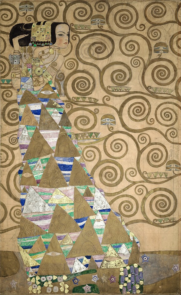 Foto 1 - Expectation Dancarina Dança Pintura de Gustav Klimt em TELA