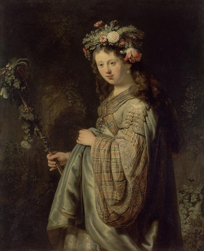 Foto 1 - Flora Deusa das Flores e da PrimaveraMitologia Pintura de Rembrandt em TELA