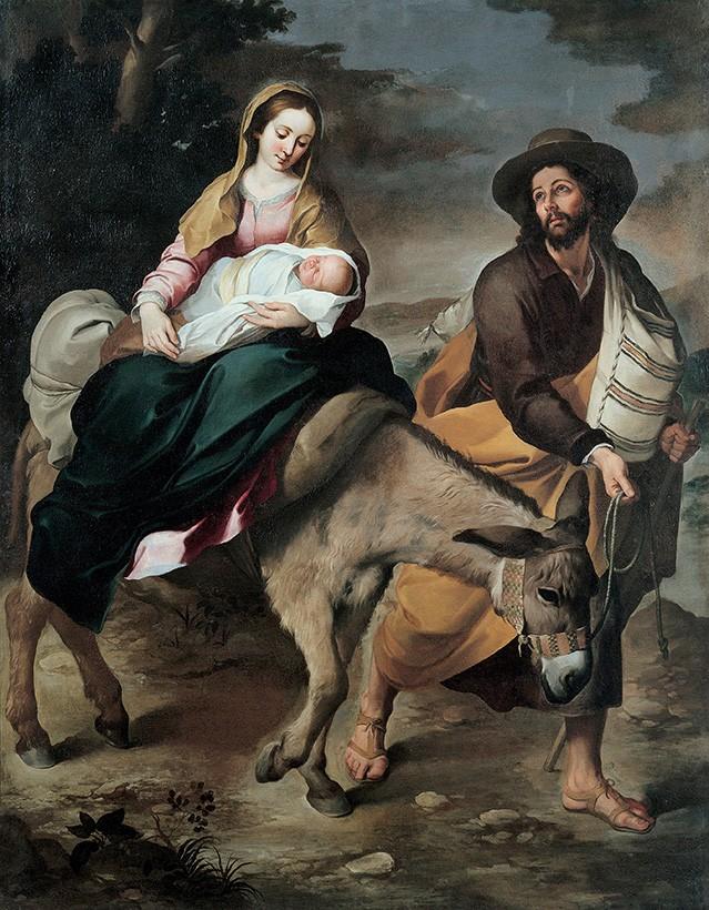 Foto 1 - Ida Para o Egito Jesus Maria Pintura de Murillo em TELA