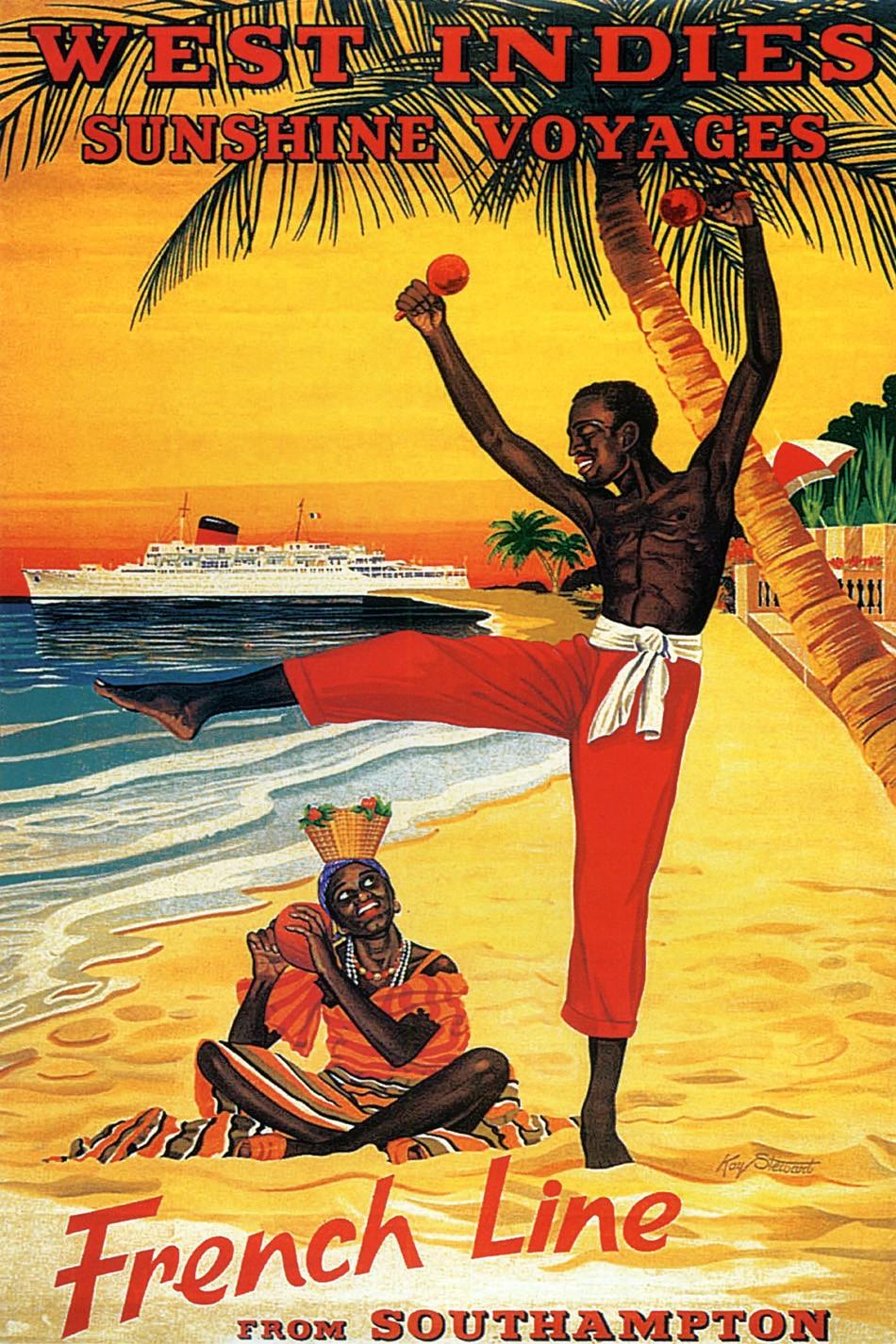 Foto 1 - Ilha West Indies Ferias Viagem Praia Vintage Cartaz Poster em Papel Matte