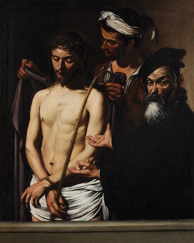 Foto 1 - Jesus Cristo Coroa Espinhos Manta Pintura de Caravaggio em TELA