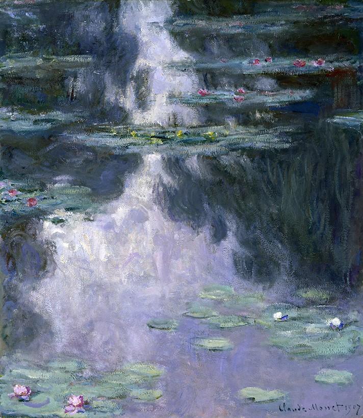 Foto 1 - Lírios Aquáticosde Giverny Flores Pintura de Claude Monet em TELA