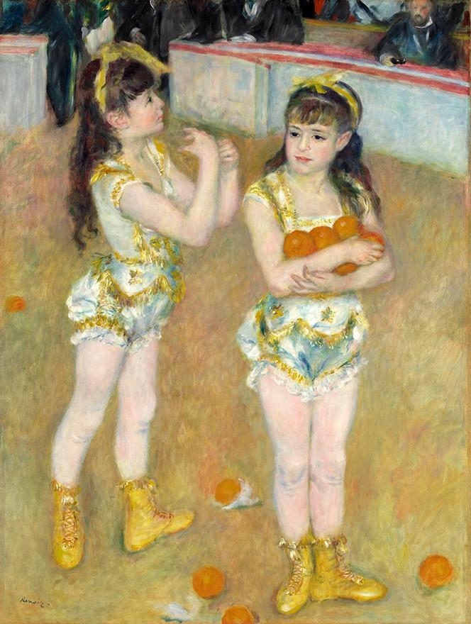 Foto 1 - Malabaristas no CircoFernando Duas Meninas LaranjasPintura de Pierre Auguste Renoir em TELA