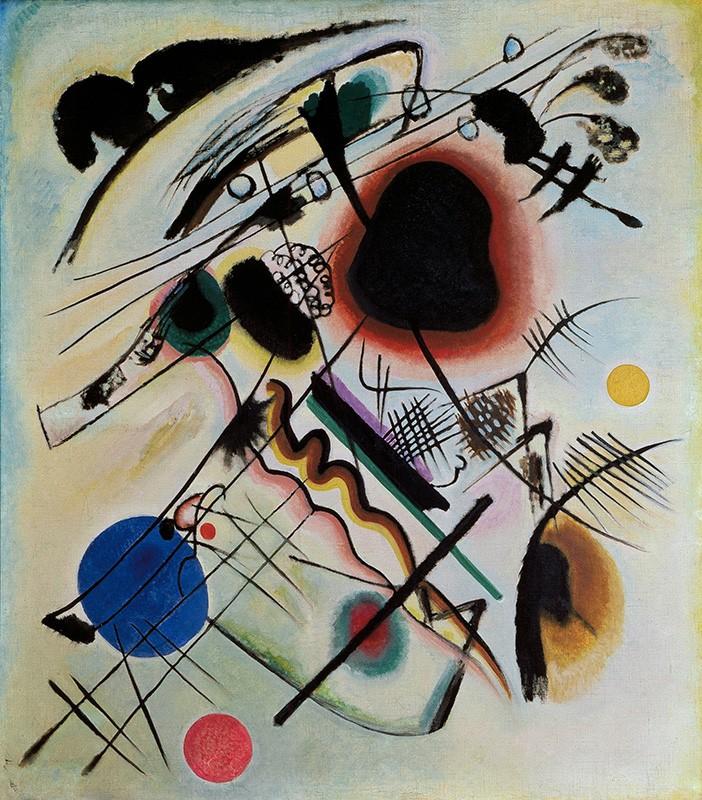 Foto 1 - Mancha Negra Black Spot Pintura de Wassily Kandinskyem TELA