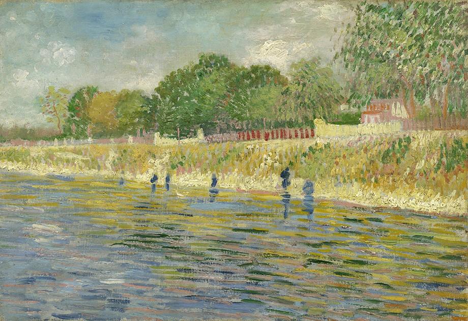 Foto 1 - Margem do Rio Sena França Pintura de Vincent van Gogh em TELA