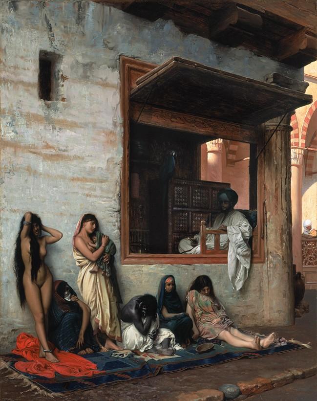 Foto 1 - Mercado de Escravas Pintura de Gerome em TELA