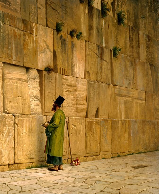Foto 1 - Muro das Lamentações em Jerusalém Pintura de Gerome em TELA