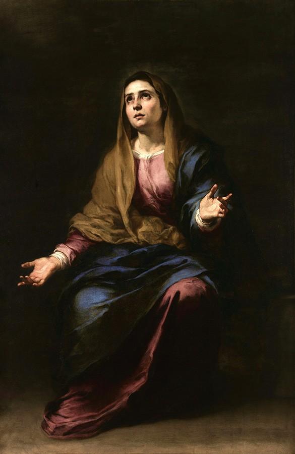 Foto 1 - Nossa senhora Mãe TristePintura de Murillo em TELA
