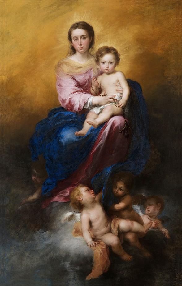 Foto 1 - Nossa SenhoradoRosárioPintura de Murillo em TELA