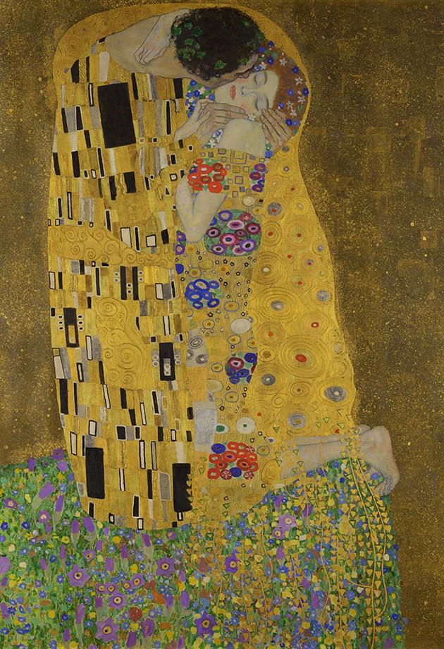Foto 1 - O Beijo The Kiss Amor Casal Love Pintura de Gustav Klimt em TELA