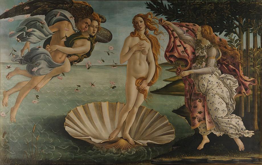 Foto 1 - O Nascimento de Vênus Deusa do Amor e da Beleza Emergindo do MarPintura deSandro Botticelli em TELA