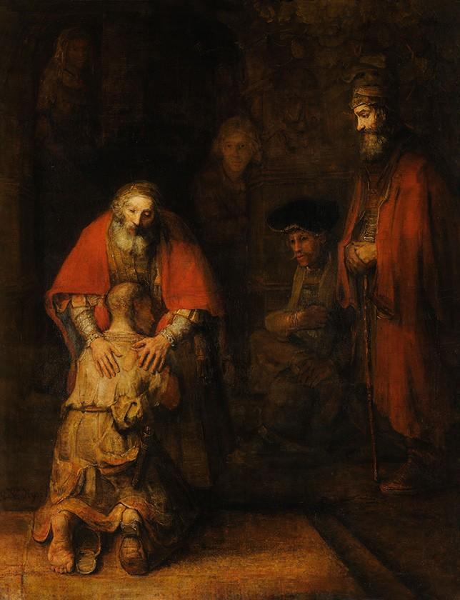 Foto 1 - O Retorno do Filho Pródigo Pintura de Rembrandtem TELA