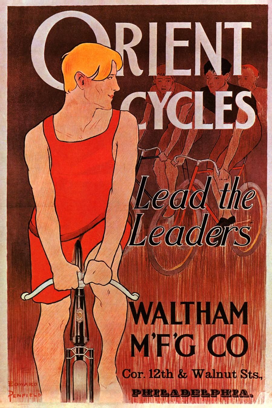 Foto 1 - Orient Cycles Waltham PhiladelphiaBicicletaVintage Cartaz Poster em Papel Matte