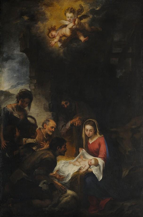 Foto 1 - Pastores de Adoração Jesus Maria Anjos Pintura de Murillo em TELA