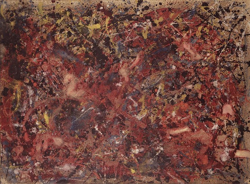 Foto 1 - Pintura Abstrata de Jackson Pollockem TELA