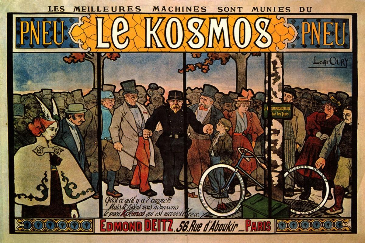 Foto 1 - Pneu Le Kosmos Paris BicicletaVintage Cartaz Poster em Papel Matte