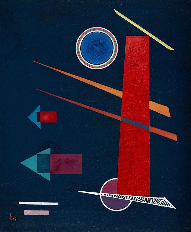 Foto 1 - Poderoso Vermelho Powerful Red Pintura de Wassily Kandinskyem TELA