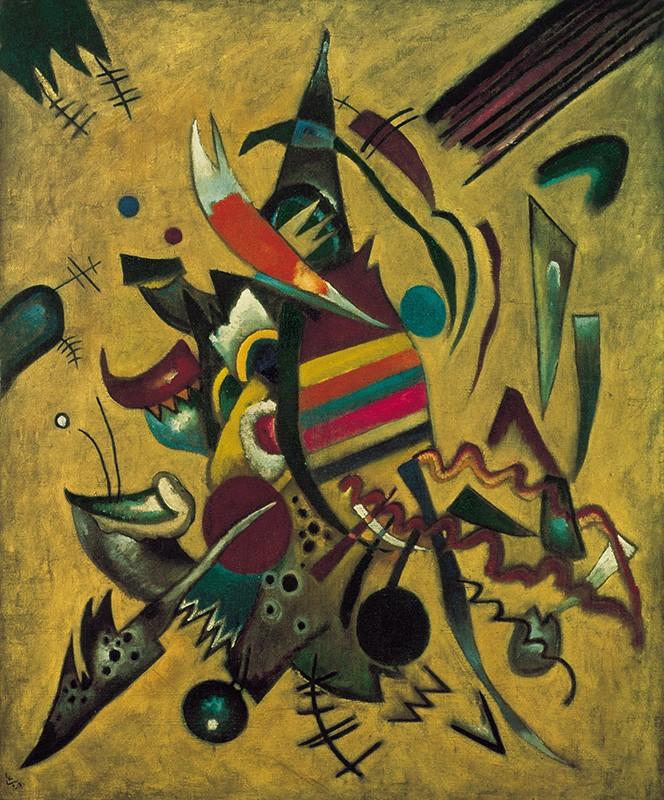 Foto 1 - Pontos Points Pintura de Wassily Kandinskyem TELA