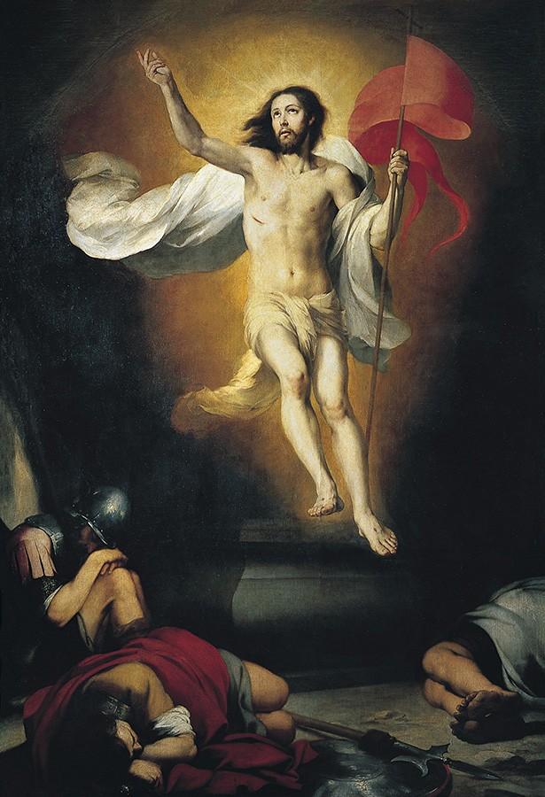 Foto 1 - Ressurreição de Cristo Pintura de Murillo em TELA
