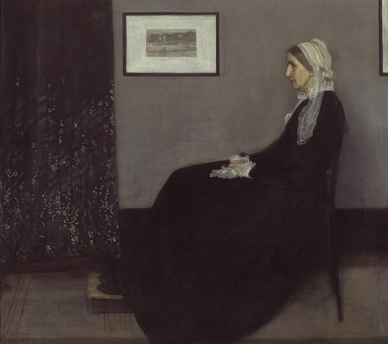 Foto 1 - Retrato da Mãe do Artista Pintura de Whistler em TELA
