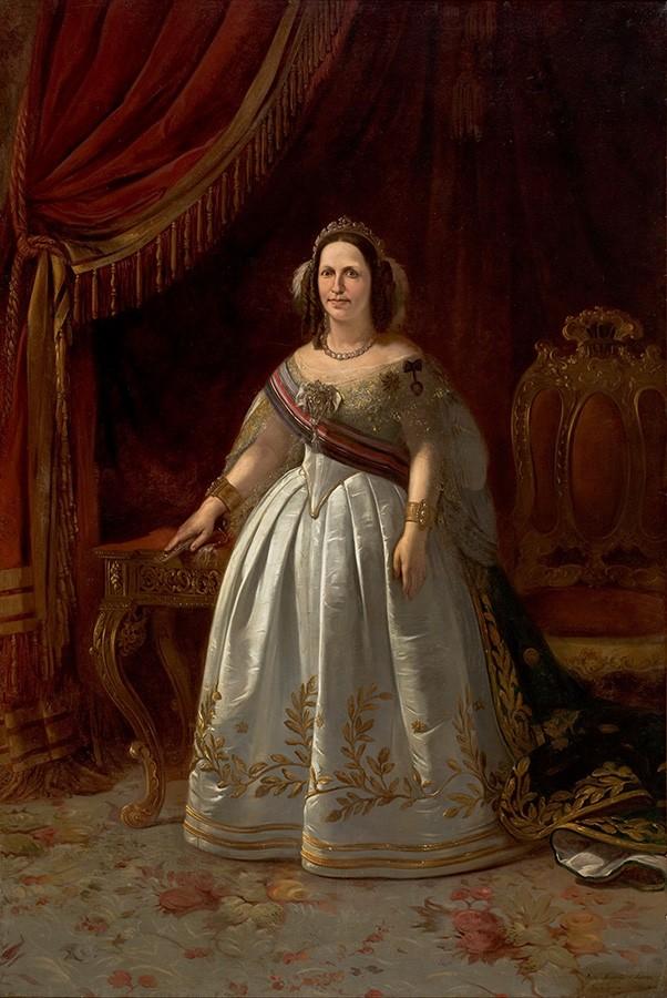 Foto 1 - Retrato de Dona Tereza Cristina Pintura de Victor Meirelles em TELA